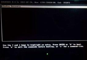 电脑重装系统后开机黑屏显示onekey recovery的解决方法