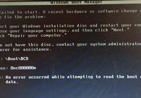 U大侠U盘重装系统后黑屏提示BOOT/BCD的原因及解决办法