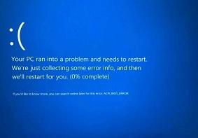 电脑用户遇到蓝屏ACPIBIOSError应该如何解决?