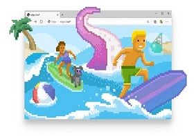 Edge 83 正式版断网冲浪小游戏!Edge浏览器通过导航到edge://surf