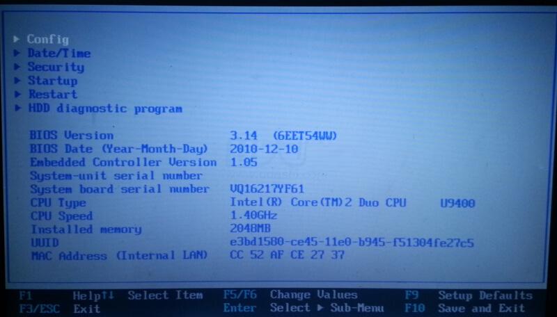 联想thinkpadx301笔记本bios设置ahci模式教程