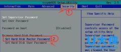 使用bios设置硬盘密码的方法介绍