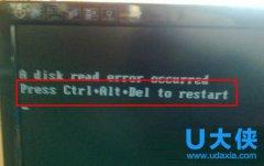 "Win7系统开机黑屏提示""Press Ctrl+Alt+Del to restart"""